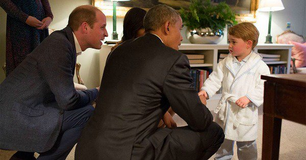 Prince George met with President Obama and First Lady Michelle Obama and looked so handsome: