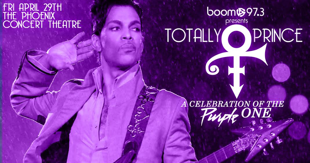 #JUSTANNOUNCED @boom973 presents Total Prince: A Celebration of the Purple One, April 29th! https://t.co/5sI8RDZlYM https://t.co/EezpZp6S7r
