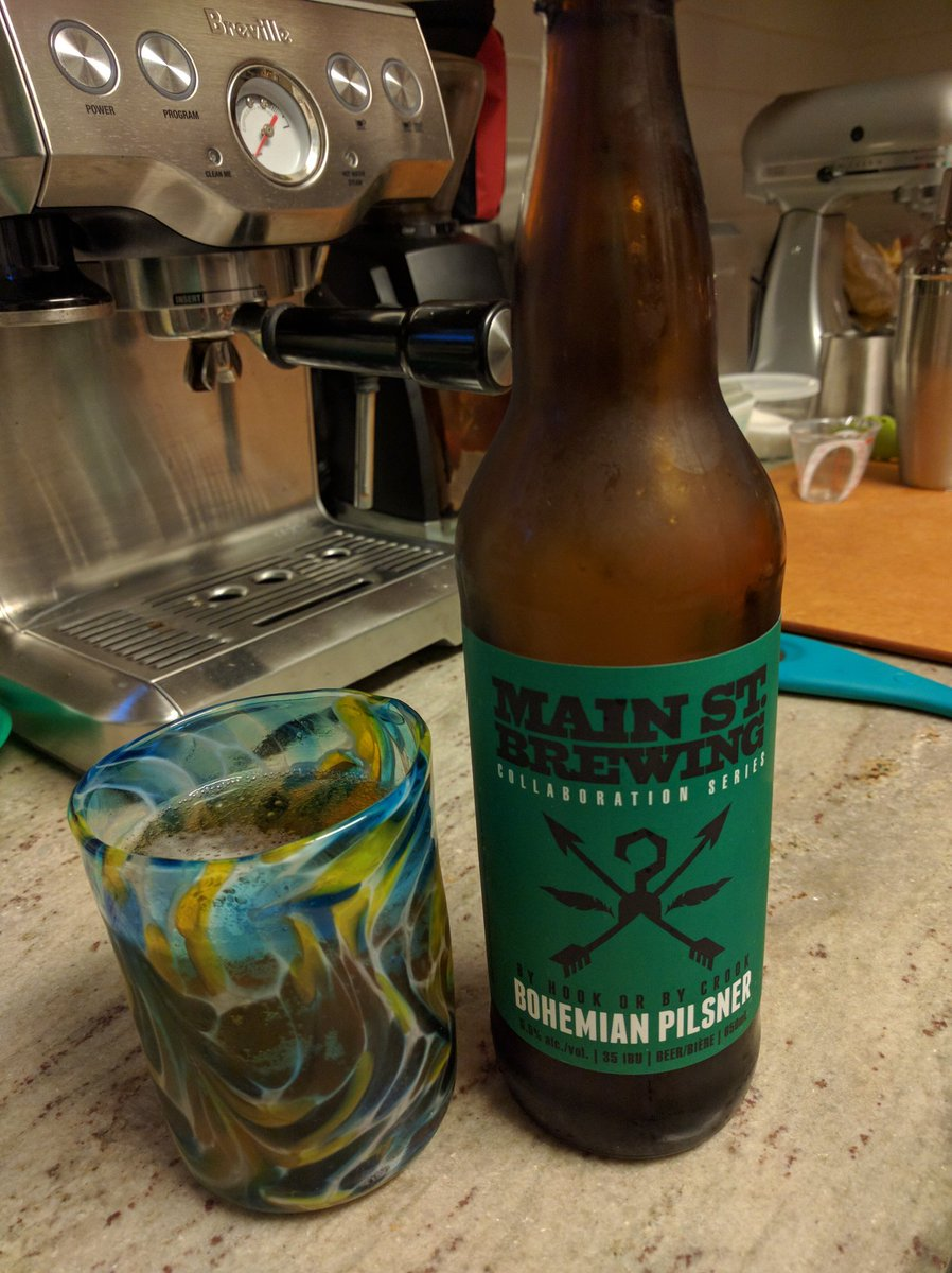 Today's! @mainstreetbeer Bohemian Pilsner. Better than Eastern Promises. https://t.co/3Zz0UA11Ce