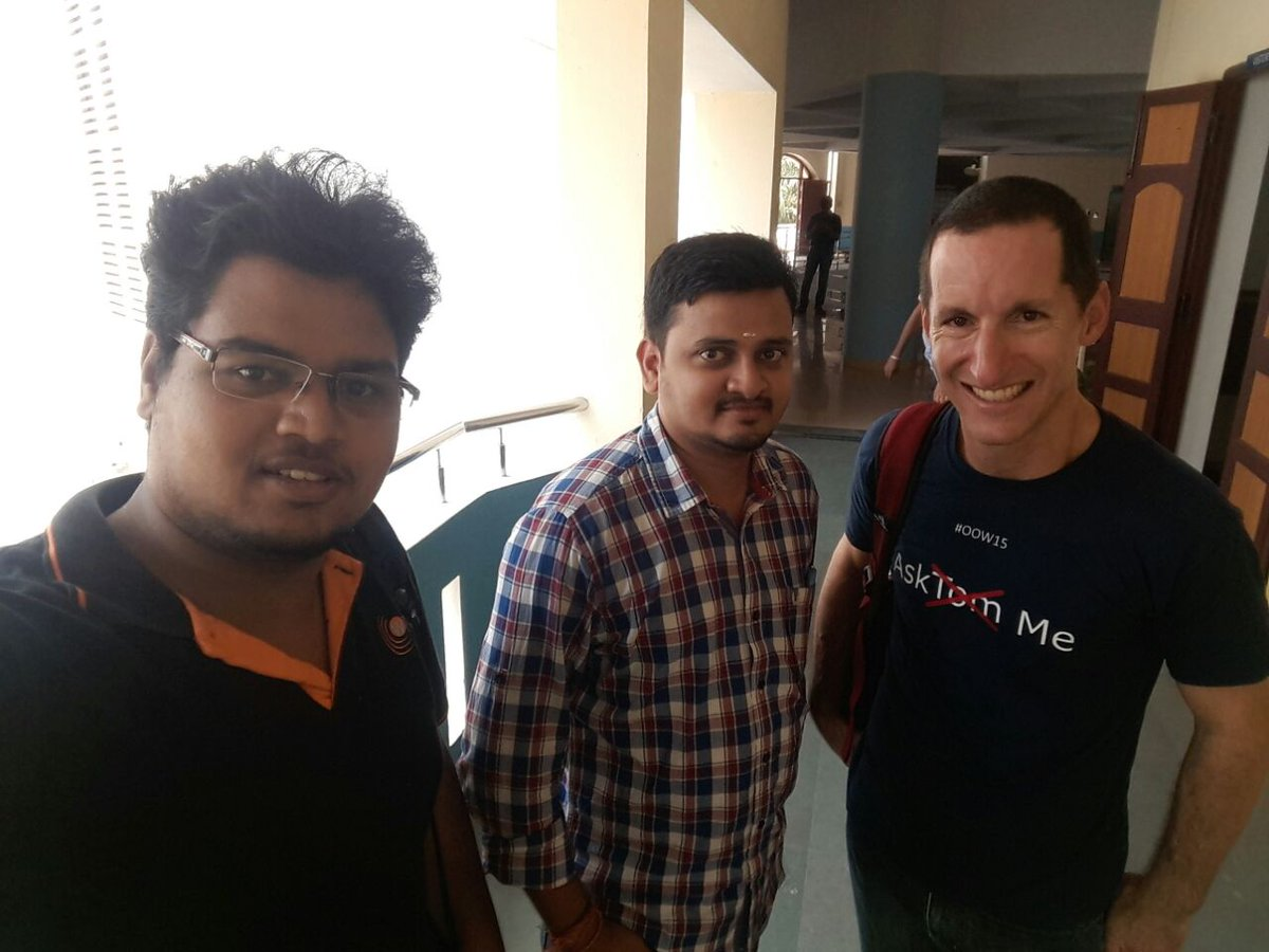Charging the #SQL#SKILLSET with @connor_mc_d @karthik03179874 @iLokChaN @tmvgera at #OTNYathra @oracleace @oracleotn https://t.co/v9d2z2tKfc