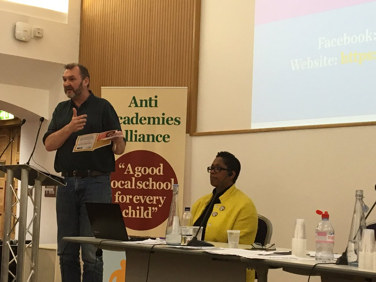 'There is no evidence that academies raise standards' @cyclingkev from @NUTonline  #saveourschools https://t.co/GwOvxxJQZh