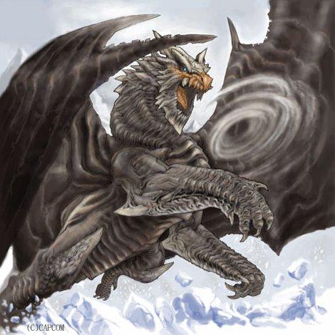 #ドラゴンの日  ドラゴン絵探したら昔モンスターハンターで描かせていただいた古龍クシャルダオラと飛竜リオレイアさん、あと
