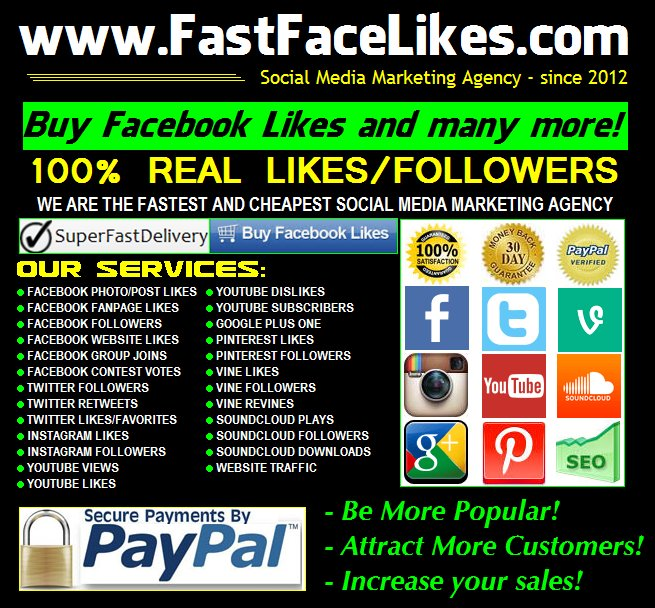 Buy Facebook Likes and Social Media Marketing Services | FastFaceLikes.com