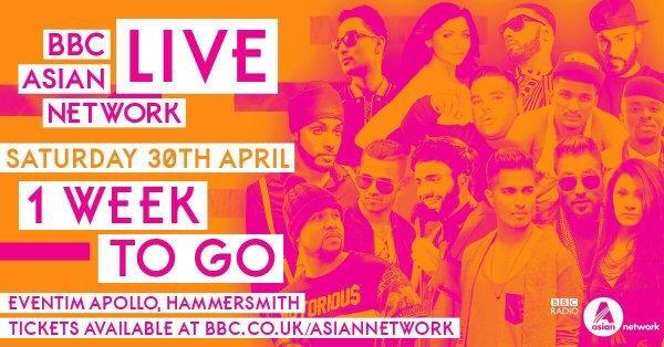 1week to go til #AsianNetworkLive! @ArjunArtist @Imrankhanworld @NaughtyBoyMusic @THEJAZDHAMI &more @bbcasiannetwork https://t.co/2eNcCvC0hc