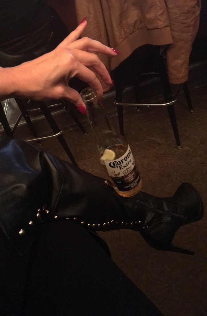 Drinking beers in the same boots I destroyed My ballbusting slave in just so I can fart in his face