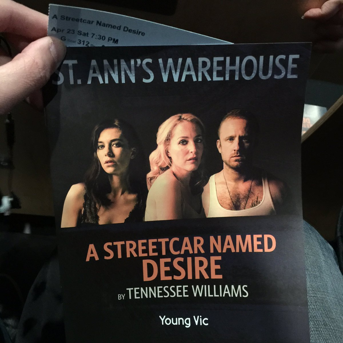 .@stannswarehouse I'll say it. This is the definitive #nycliving #NYCTheater production of this Williams classic.