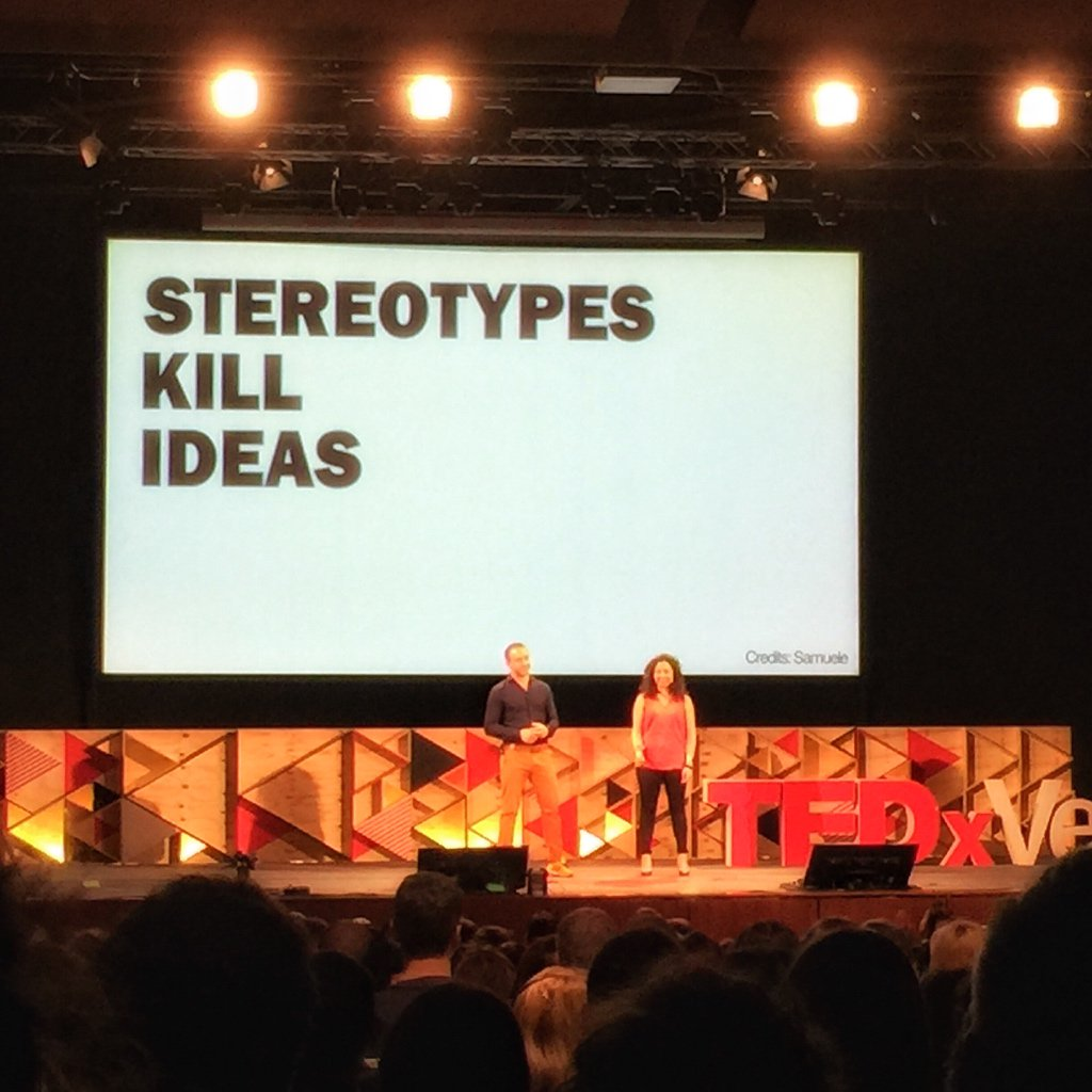 Stereotypes kill ideas #TEDxVerona https://t.co/kofePrHL7W