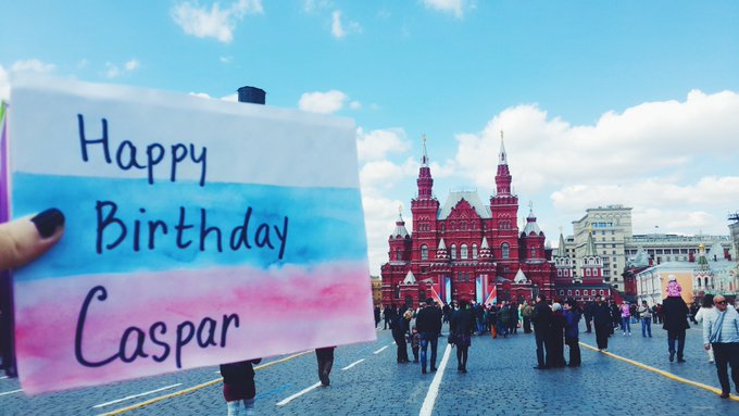 HAPPY BIRTHDAY FROM RUSSIA  WE LOVE YOU. ALL THE BEST XX.