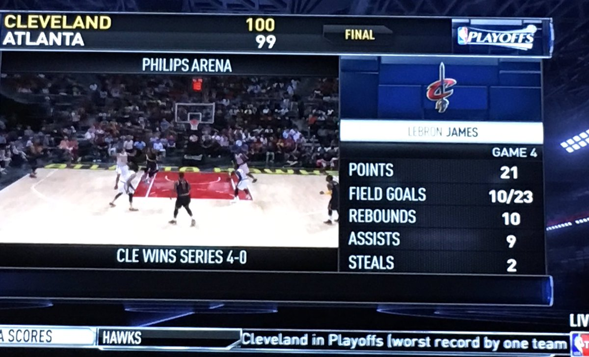 1 short of a triple double for @LeBronJames -The Greatest Player On The Planet Is A TEAM Player https://t.co/Wjtxn0hmgF