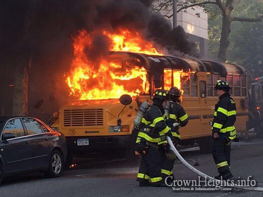 Arson attack on Jewish bus, in front of school, a very serious incident. It needs to be condemned by all. https://t.co/TmxN7GajcS