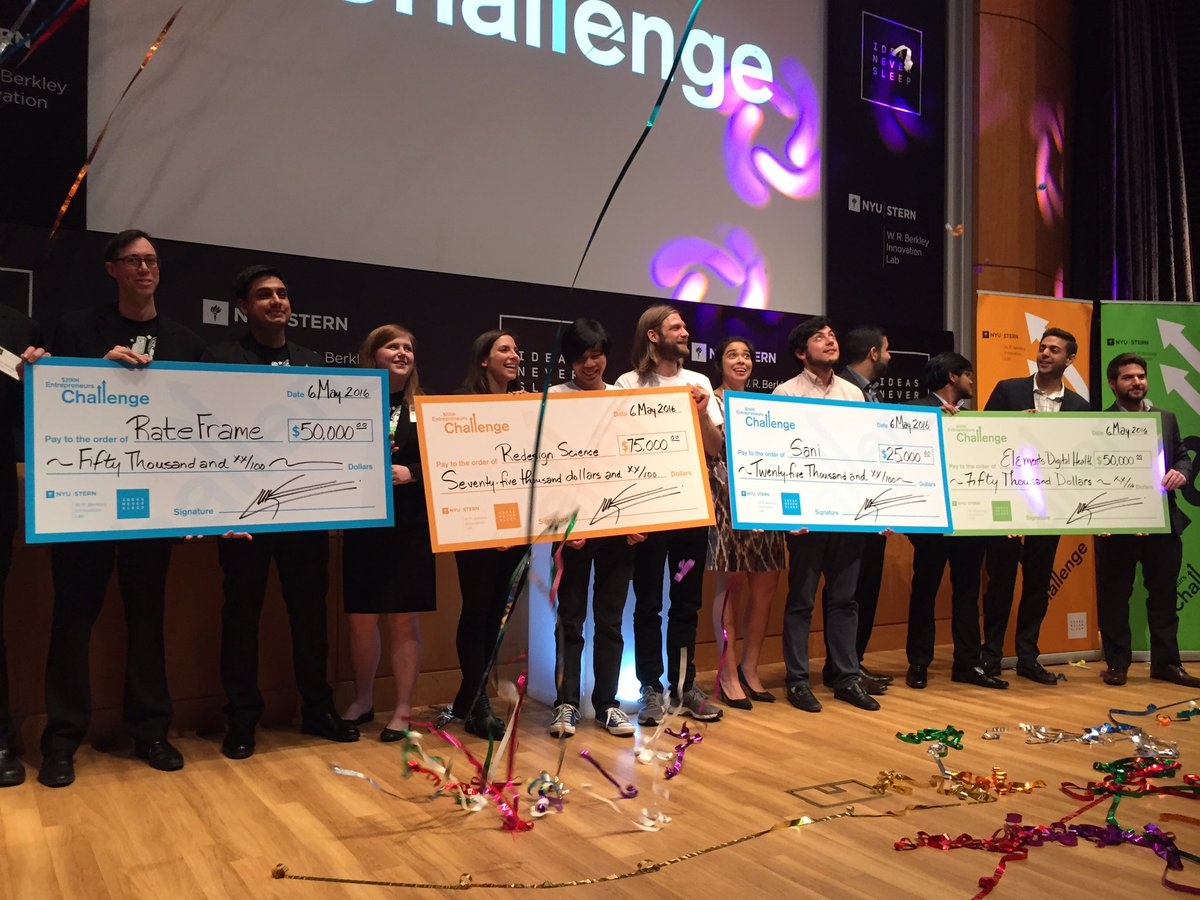 That's a wrap! Congrats to all the teams in the 2016 $200,000 #NYUChallenge https://t.co/BA9k42vYab