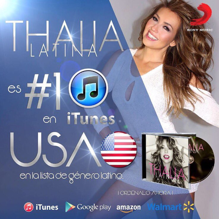 LATINA by @thalia is the #1 album on the iTunes Latino chart in USA!! #ThaliaNewAlbum #TeEncontraré GOD IS GREAT!! https://t.co/lxcS8ZsfXS