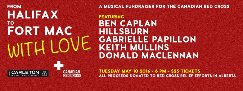 On Tuesday May 10th, a benefit concert in Halifax to support victims of the #FortMacFire. Please RT and come down! https://t.co/4O6ykl47Gc
