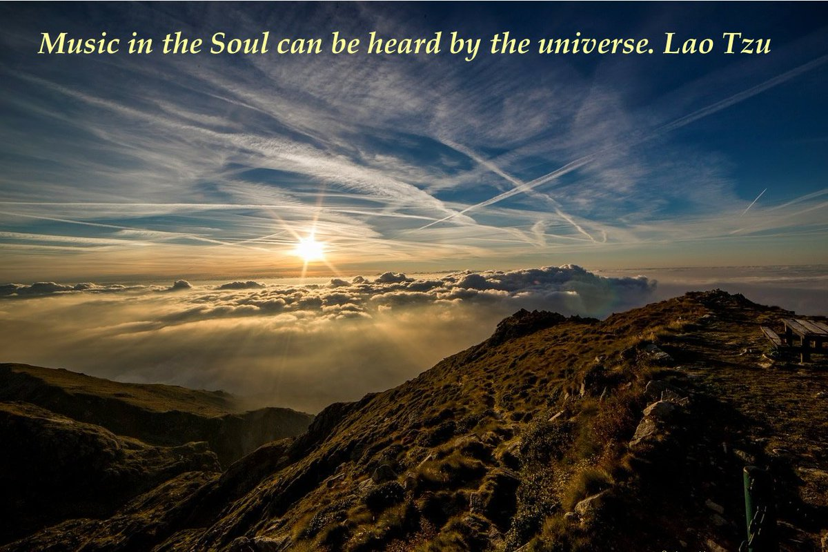 Music in the soul can be heard by the universe. Lao Tzu https://t.co/dHphJqXJ3O