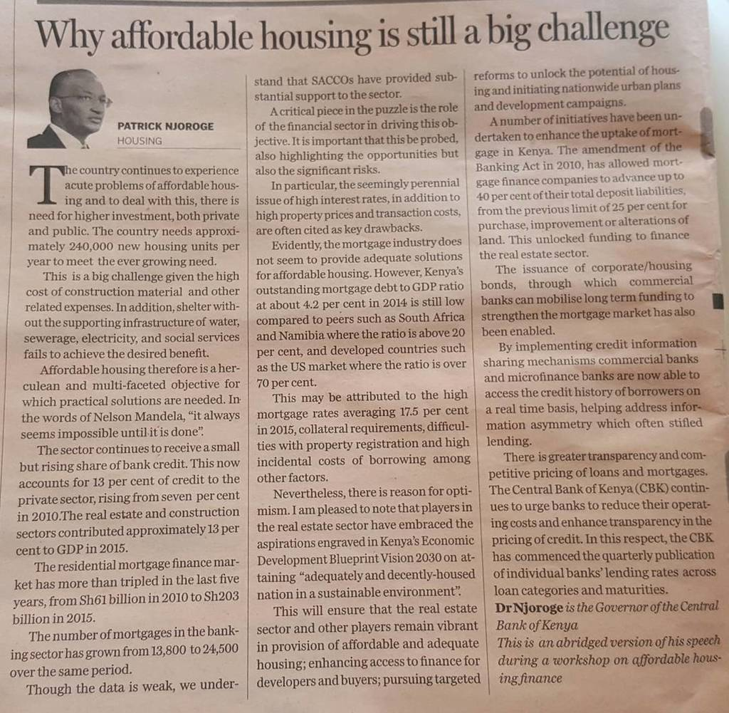 Why affordable housing is still a big challenge. Revised Deficit 240,000 units/yr -CBK Gov… https://t.co/Id5de6Pag3 https://t.co/RE4yzgiPtH