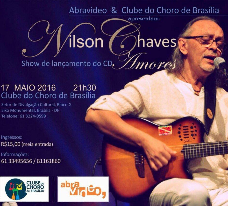 """Dia 17 de maio canto no clube do choro em Brasília canções do novo CD """"Amores"""" e canções de minha caminhada musical https://t.co/3bYa4Goky6"""