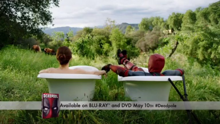 That's actually Ryan Reynolds (@VancityReynolds) in this Deadpool erectile dysfunction ad