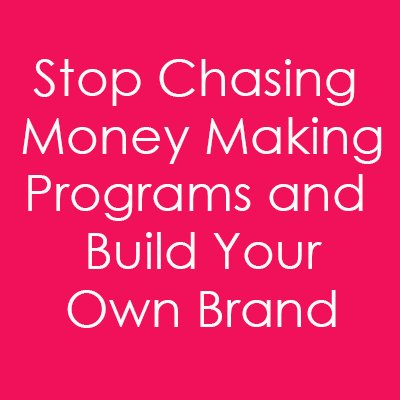 When you have your own brand people trust, you can create your own products instead of chasing money making schemes. https://t.co/yRD0G7SyHb
