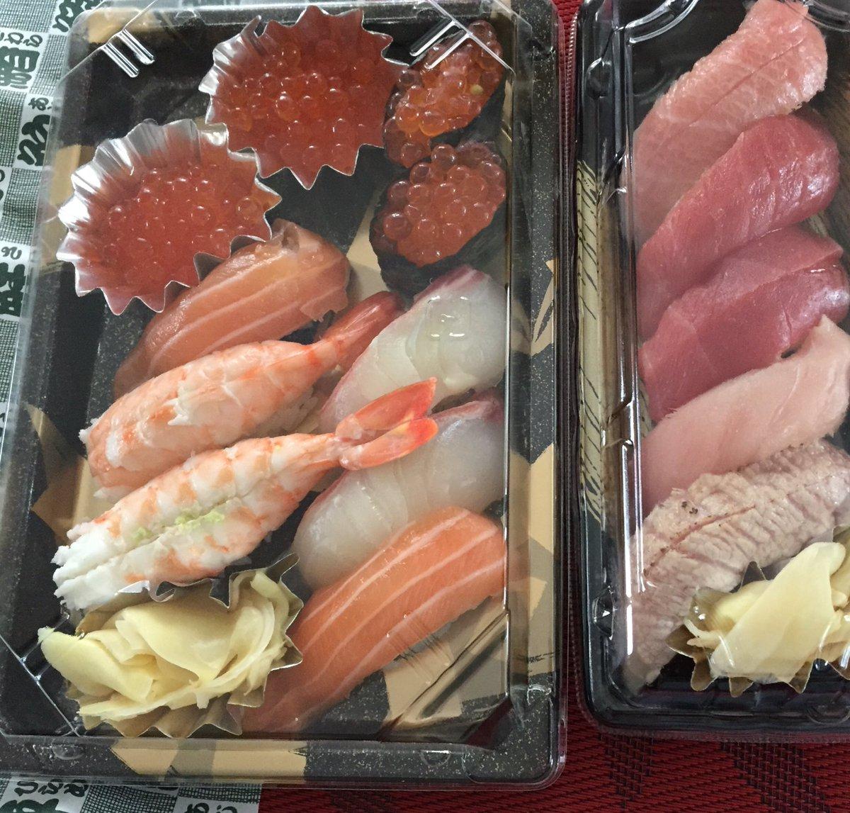 ずっと寿司食べたいと言ってたら、なんとお嬢様からのお土産! 日本人だよね。地震のあとまず食べたくなったのはオニギリ、あ、そのあとパンを食べたくなって次は寿司。 https://t.co/pcx8ub0dvz