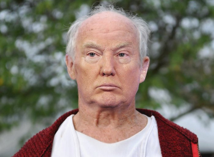 Donald trump with no hair and no tan. photoshopper unknown. @imgur/@ ...