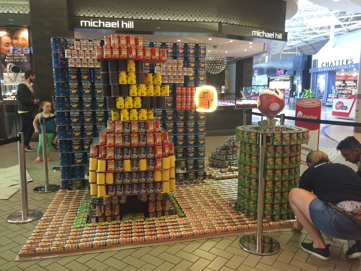 Canstruction, a fundraiser for the Mustard Seed, is in full swing at Mayfair Mall this weekend. #yyj https://t.co/fceLnHuw2c