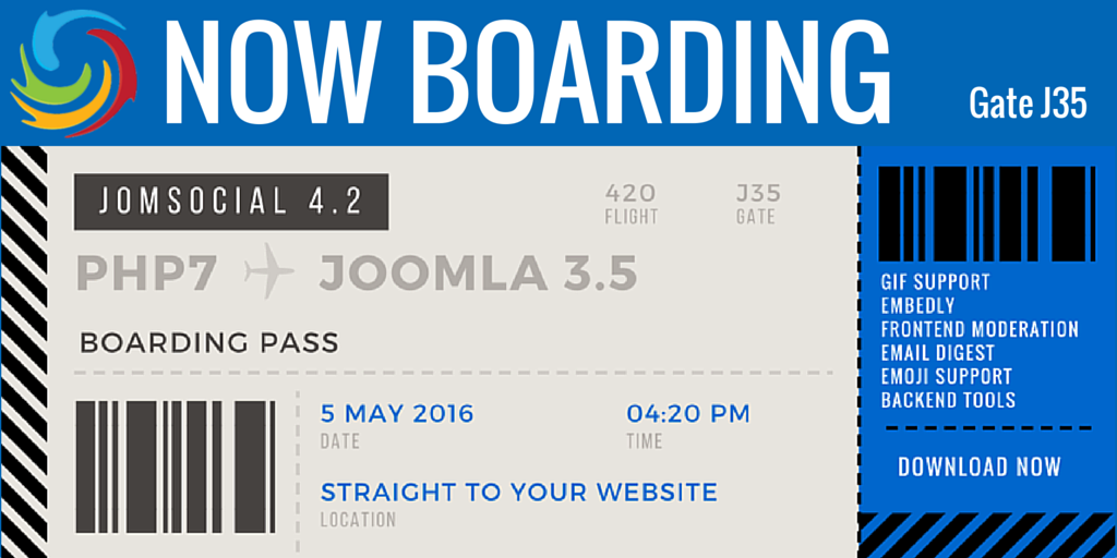 #JomSocial 4.2 has landed and is ready for your #Joomla website today! Find out more https://t.co/3rXPuefGur https://t.co/nZY0gzzVDa