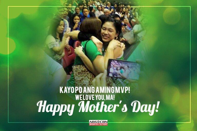 Para sa lahat ng mommy, kayo ang aming MVP!  Happy Mother's Day mula sa ABS-CBN Sports! https://t.co/HrlPzok5tG