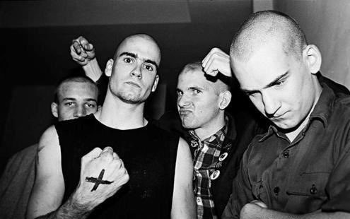 Young DC punks: John Stabb w Ian, Henry, Brian Gay. Stabb has died of stomach cancer. https://t.co/trPLAQ0Fi7