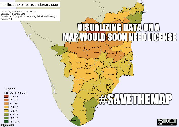 Visualizing data on a map would soon need a license #savethemap @savethemap https://t.co/z3jXzmcnaS