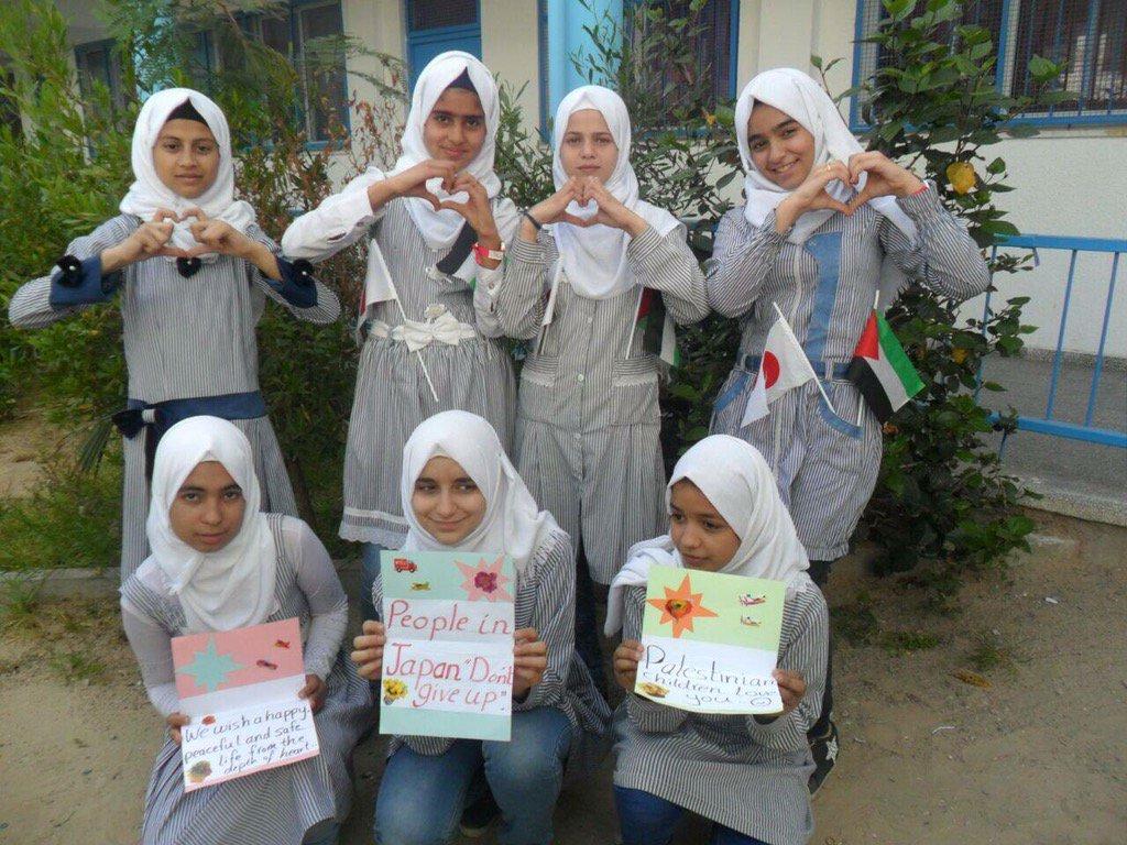 パレスチナのガザ地区の子どもたちから、去年来日した学校の先生を通じて、熊本地震へのお見舞いのメッセージが届きました。 力を合わせてまいります。ありがとうございます。 https://t.co/1aCf6IN57b