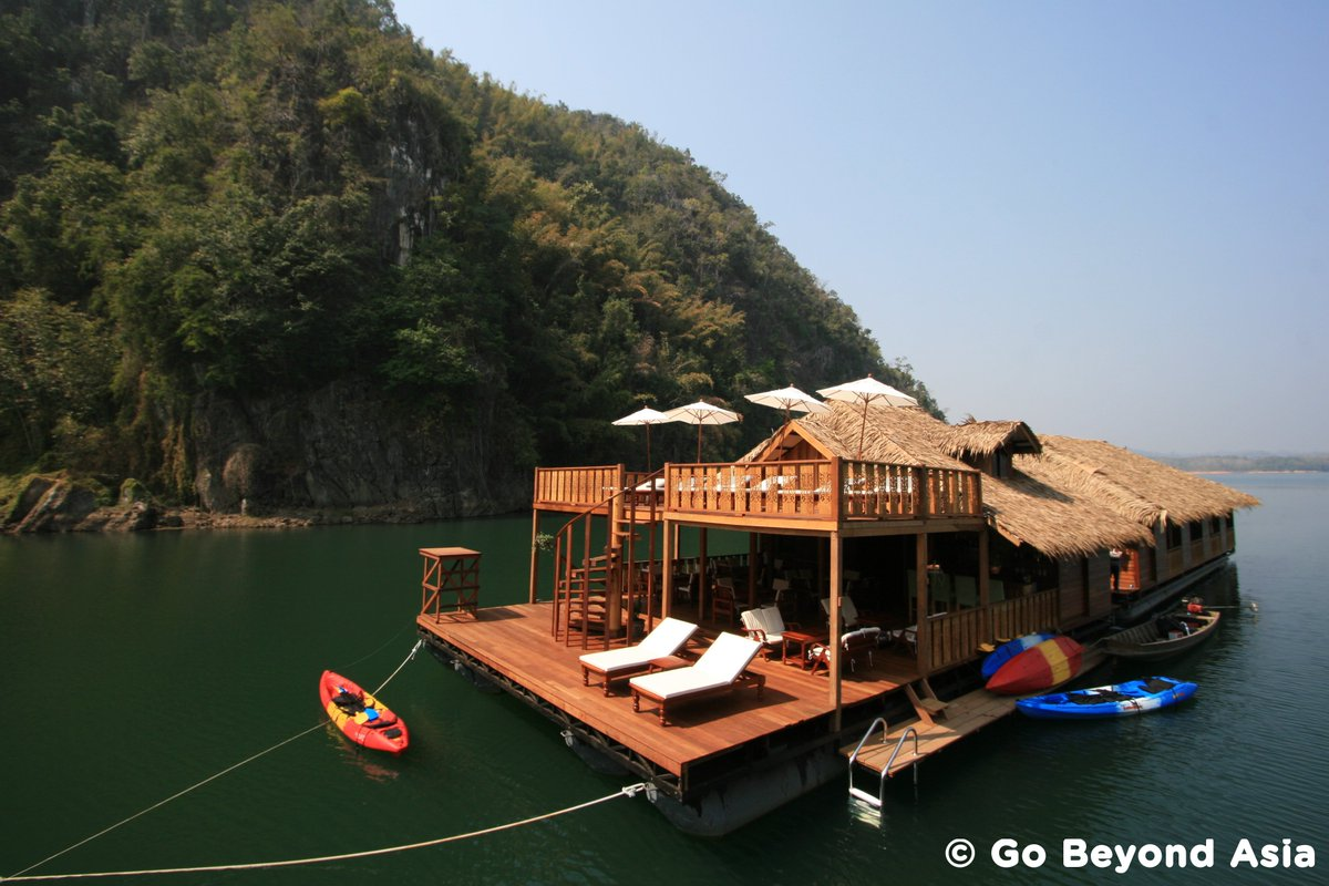 Go on an adventure with a lake house at Khao Laem Dam: