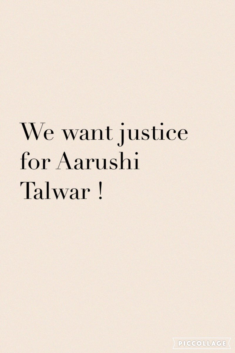 We want #Justice for #AarushiTalwar https://t.co/L0nTPpGqfd