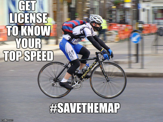 Using GPS for your workout would need a license soon #savethemap @savethemap https://t.co/RV4P8uVnSx