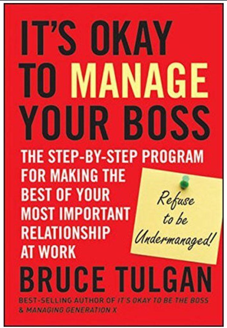 من افضل الكتب في هذا المجال :  Its okay to Manage your Boss ولان الموضوع مهم والكتاب كذلك سيكون #كتاب_الشهر_مع_مدحت https://t.co/SlPp0yuScE