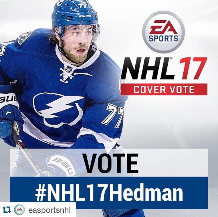 VOTE ✔️ FOR HEDDY #BoltsNation @EASPORTSNHL #NHL17Hedman #NHL17 #NHL17CoverVote @tblightning #GoBolts #BeTheThunder https://t.co/Sr5bZgEN7D