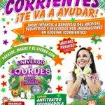 """""""Corrientes te va a Ayudar"""" @lourdesanchezok presenta """"EL UNIVERSO DE LOURDES"""" Domingo 8 mayo anfiteatro Cocomarola https://t.co/SftqC1rreT"""