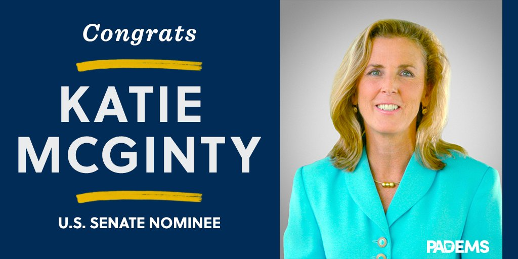 Congratulations to @KatieMcGintyPA, our nominee for the United States Senate! #PASen https://t.co/CjEtKp4FcY