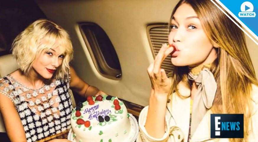 👭 + 🎂 + ✈️ + 🏜 = Another weekend in the life of Gigi Hadid and Taylor Swift.