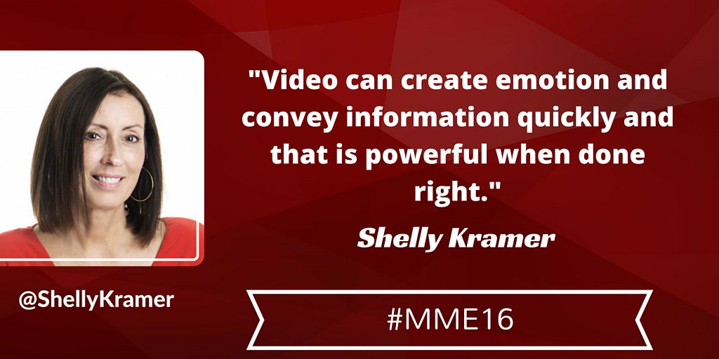 Brands should utilize video as part of their content strategy, it simply can't be ignored. #MME16 https://t.co/Q5yLMjh72N