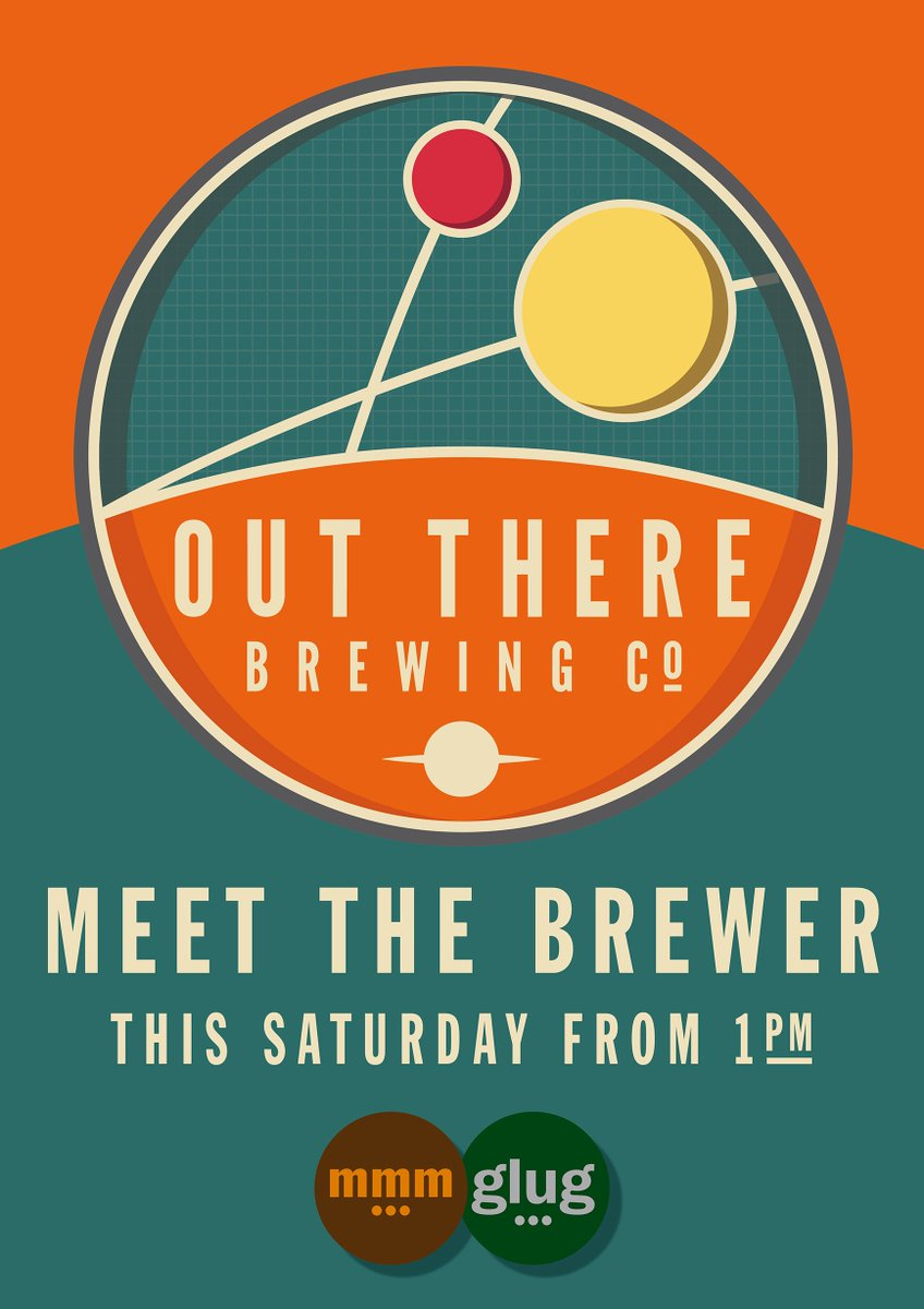 Delighted to have local brewers @outtherebrewco at glug... this Saturday for a meet the brewer from 1pm. https://t.co/2xMSGFxJrk