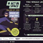 RT @AirbusDS: Still time to join the #Space #hackathon #ActInSpace to win amazing prizes https://t.co/1oohPHMqf4 @ActInSpace https://t.co/5…