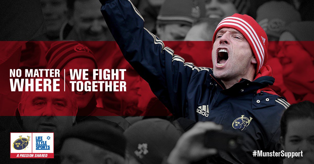 COMP: When it matters most, we know you'll be there with your #MunsterSupport. RT 2 WIN TICKETS FOR #MUNvEDIN #SUAF https://t.co/Rrn2U834vR