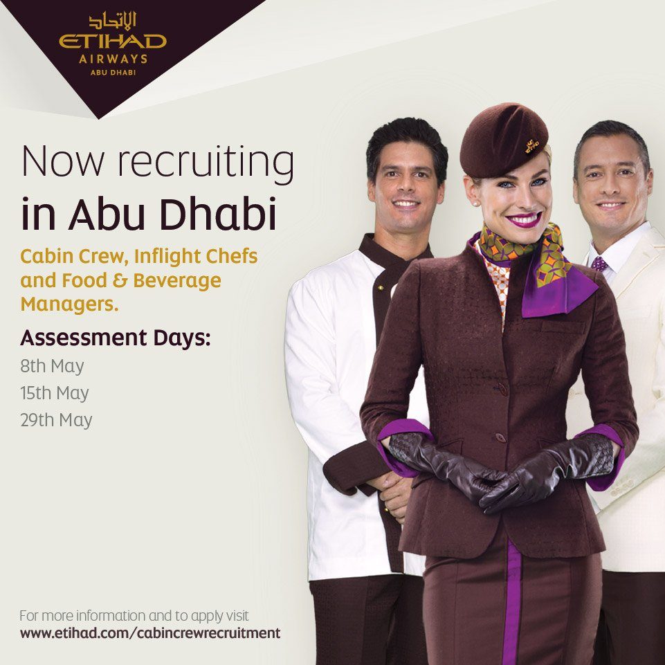 Join our award-winning Cabin Crew based in Abu Dhabi. Apply Now:
