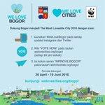 Ayo dukung #BOGOR dengan menyebarkan virus #WeLoveBogor ke dunia sekitar kita ! https://t.co/Db0QsENLZ3