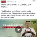 """#PRI ofrece de nuevo """"Red Digital"""" pero la red wifi gratuita del Gobierno Mpal de #Durango, dos años sin funcionar. https://t.co/HVih1RdkFg"""
