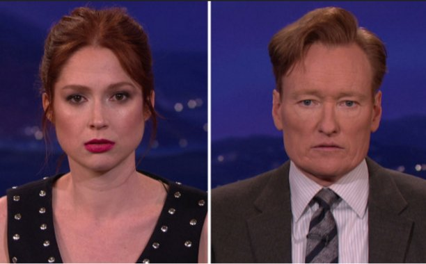 Ellie Kemper and Conan O'Brien compare their