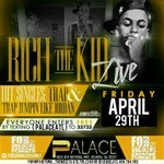 #PalaceATL 2morro Rich The Kid live Text PALACEATL to 33733 for FREE Vip Entry #ForDrinkersOnly #RatchetVsClassy https://t.co/bKhNbL29fT 8