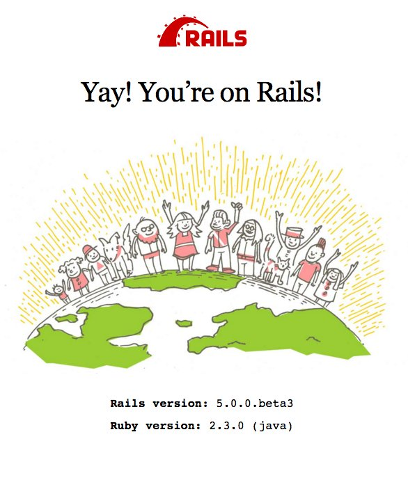 JRuby 9.1 running Rails 5 in API mode (reduced deps). ActiveRecord needs work, but this is good! https://t.co/s0QlFQpKI9