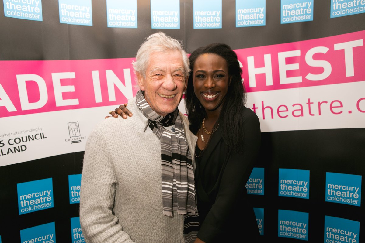 Lovely to be joined by @IanMcKellen @Mrmatthenry and @TheRealLukevans for #ClybournePark's press night last night! https://t.co/dOYrxFPXnX