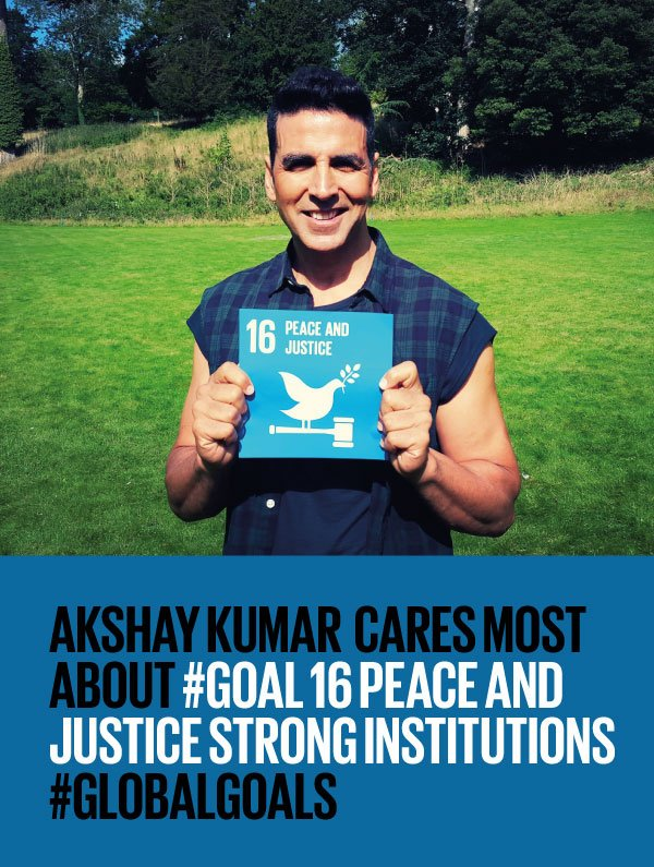 .@akshaykumar supports #Goal16 #peace & #justice! What will you do to make #peace a reality on #PeaceDay #21Sept? https://t.co/AoZ3clErJd